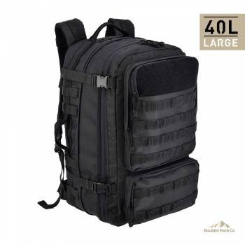 BOULDER PACK CO MOCHILA MILITARY ARMY BLACK