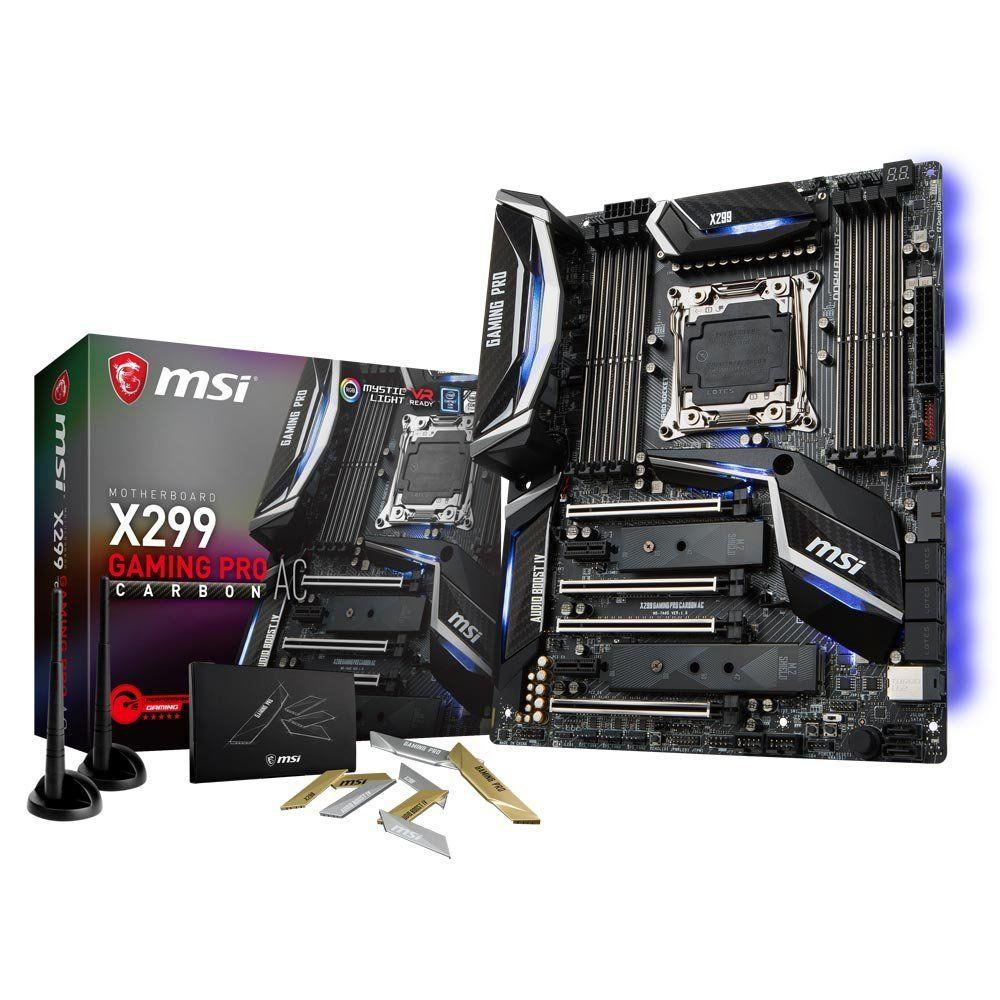 MSI PLACA X299 GAMING PRO CARBON AC