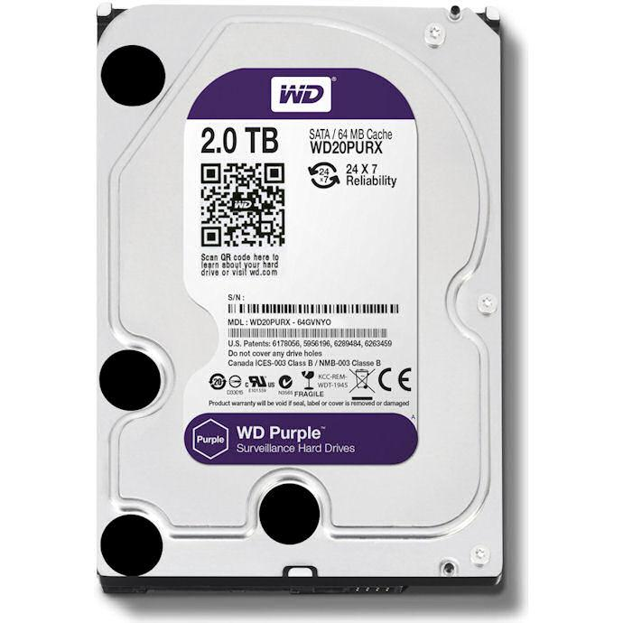 WESTERN DIGITAL DISCO 2TB PURPLE 3.5